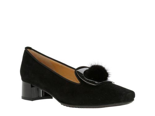zapato hush puppies suede camogli negro