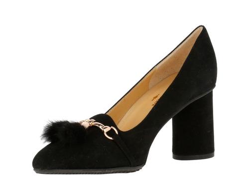 zapato hush puppies suede castel negro