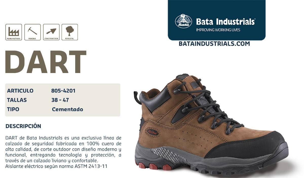 597a6fa4 Zapato Industrial Bata Dart Avellana - $ 1,950.00 en Mercado Libre