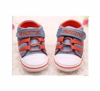 zapato jean zapatito zapatilla para bebé oferta 6 a 12 meses