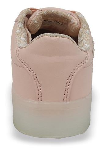 zapato luces led recargable usb rosa new walk tallas 25 a 36