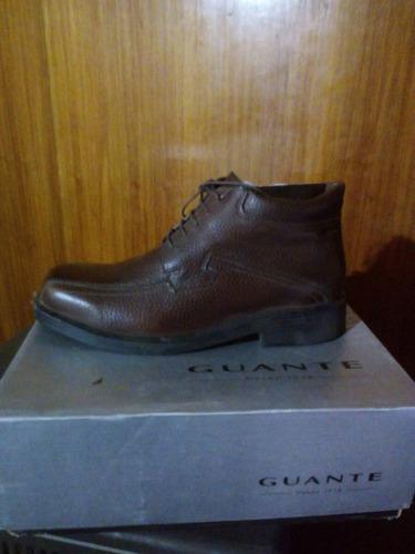zapato marca guante 100% cuero  color café