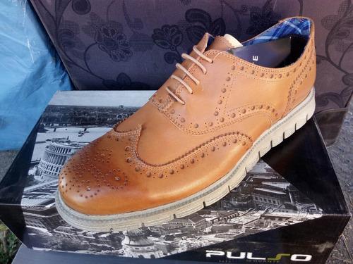 zapato marca guante café modelo pulso 100% cuero.