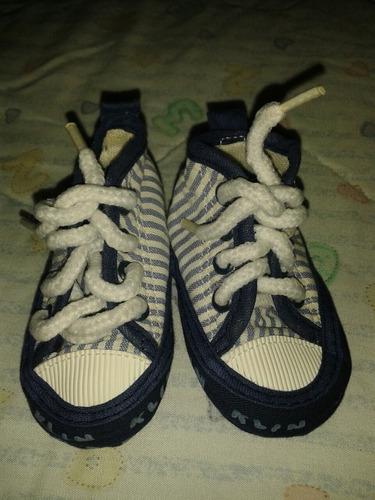 zapato marca klin niño azul con blanco 0 a 3 meses nuevo