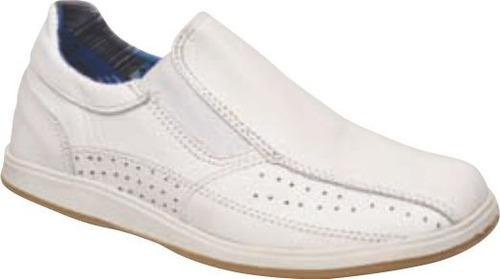 zapato mocasin cuero elastico arians 1414 34 al 38 nenes