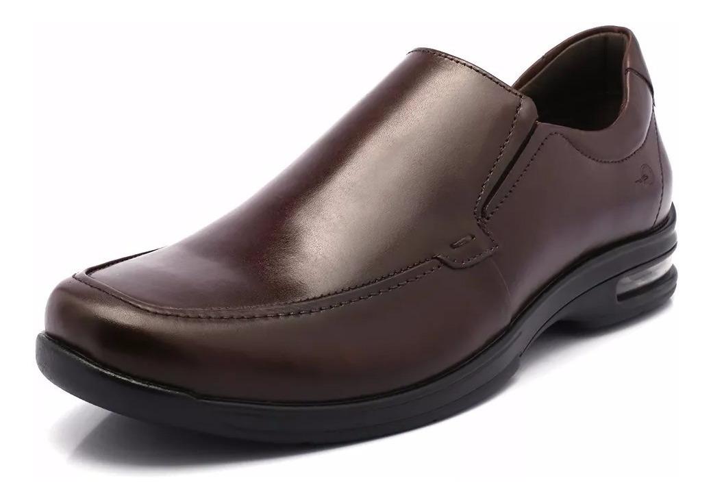 Zapato Democrata Air Fly Mocasin De 148103 Cuero Hombre OwPk0n