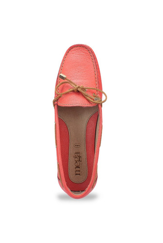 zapato mocasín mega para dama 1682 coral