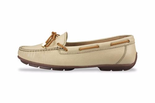 zapato mocasín mega para dama 1682 marfil
