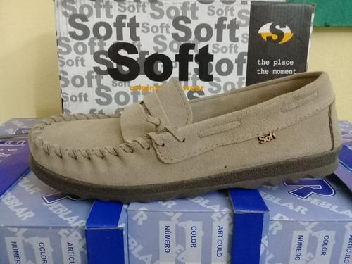 zapato mocasin nautico gamuzado soft talle 41 ( 3 pares )