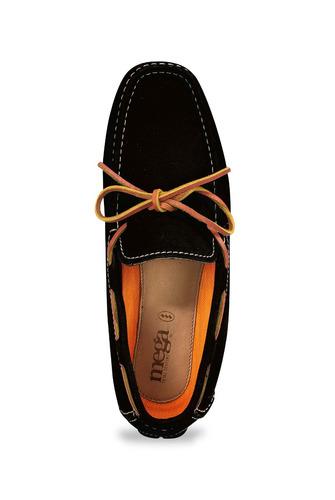 zapato mocasín para hombres mega 1672 negro