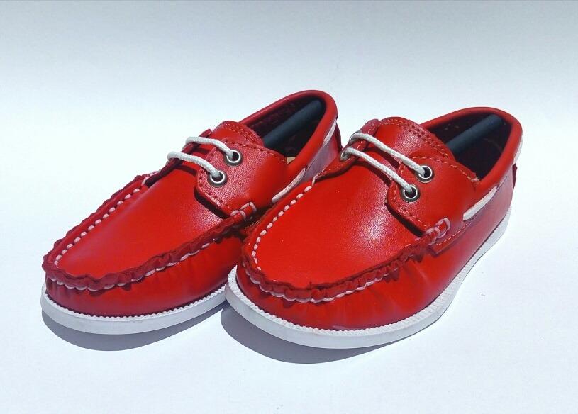 Precio reducido gran selección suave y ligero Zapato Mocasín Para Niño Color Rojo