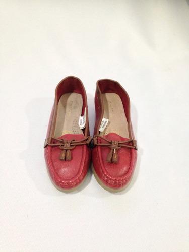 zapato mocasin sintético plantilla de cuero marittimo n*36