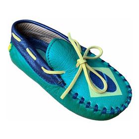 Zapato Mocasines Niño Informal En Cuero 100% Tallas Pequeñas