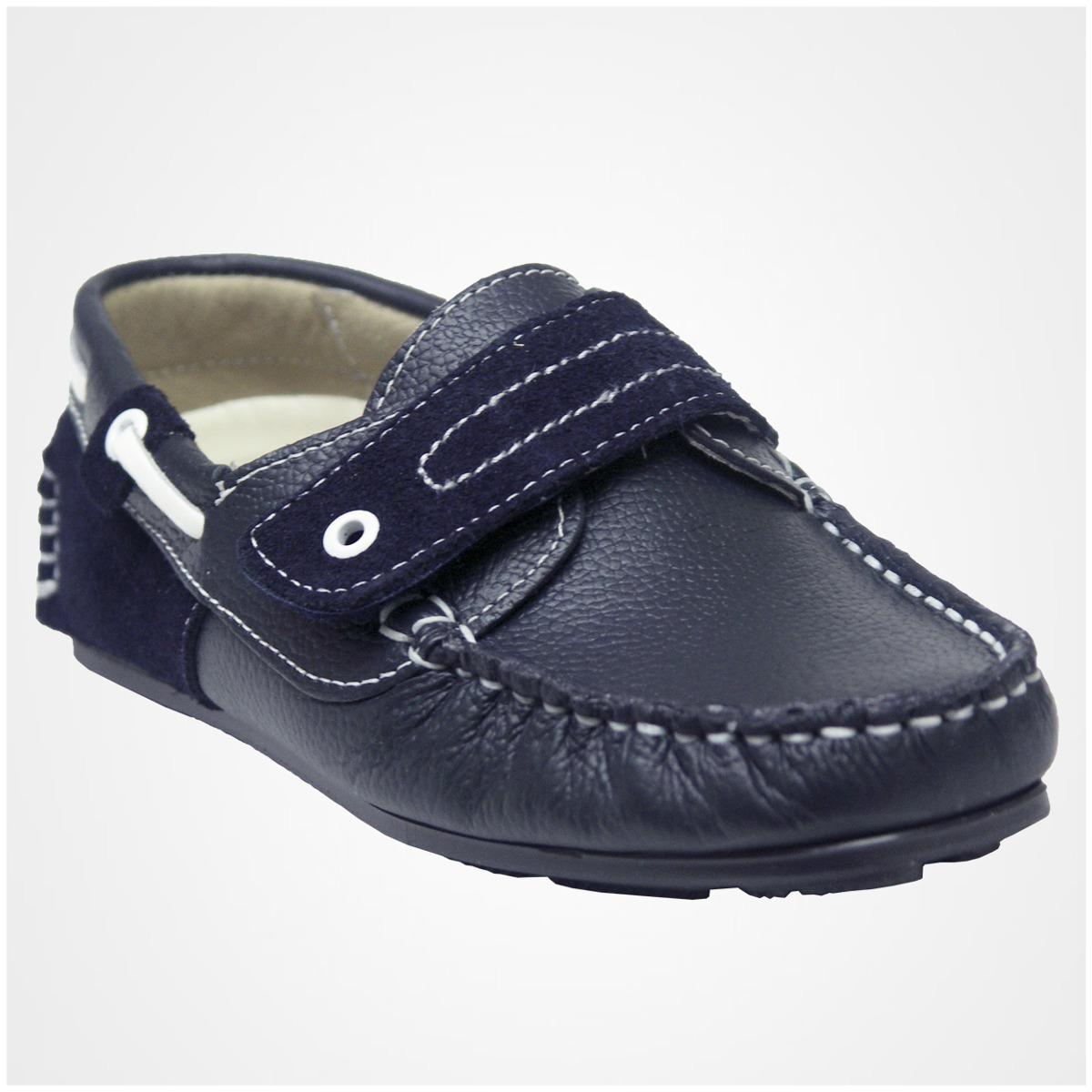 89222674460bf Zapato Mocasines Para Niño Mini Burbujas Piel Azul Marino -   629.00 en Mercado  Libre