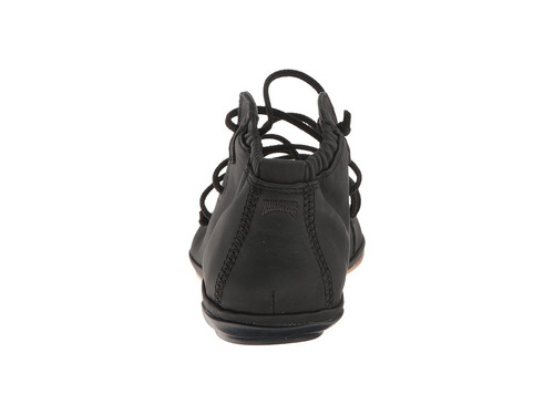 K400194 Mujer Right Zapato Nina Planos Camper Wqz7qgxxu Negro Cuero dxBoerEQCW