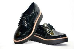 30467fde Zapatos Charol Mujer Acordonados - Ropa y Accesorios en Mercado Libre  Argentina
