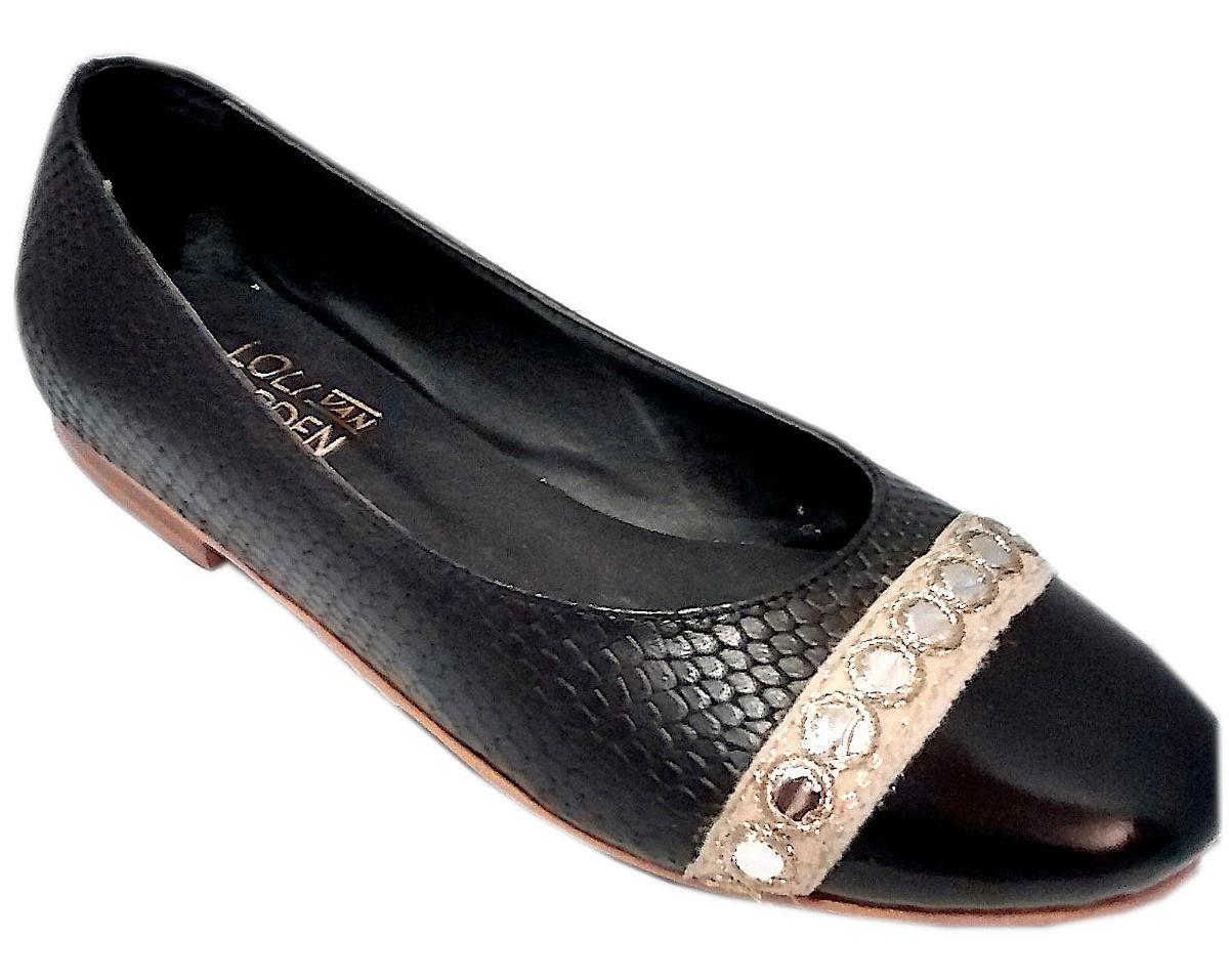 1db3ec94 Zapato Mujer Chatita Ballerina Bajo Cuero Negro - $ 1.999,00 en ...