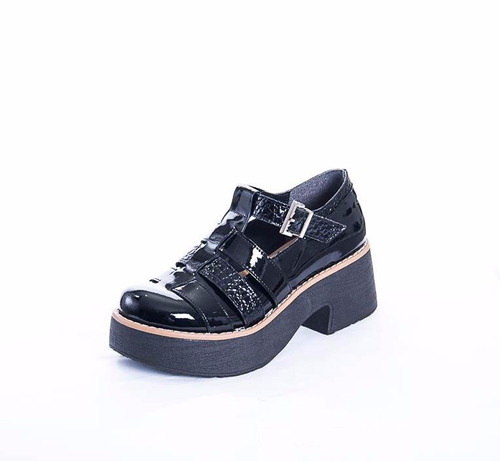zapato mujer cuero charol art 390. marca lorena bs as