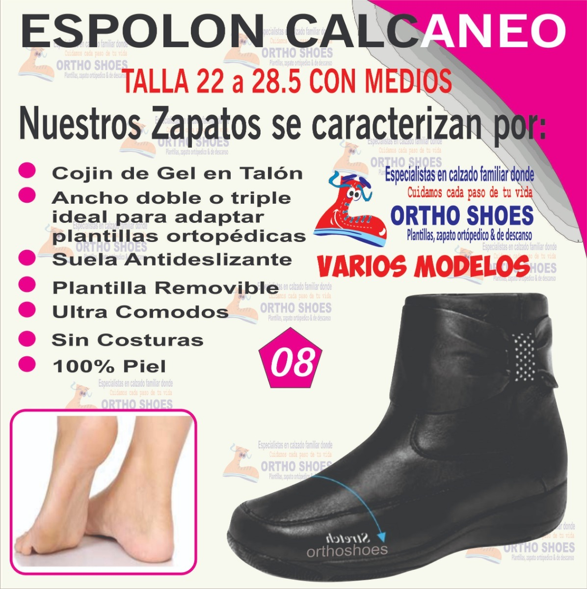 Zapato Zapato Calcaneo Mujer Espolon Espolon Mujer 1Tc3lFJK
