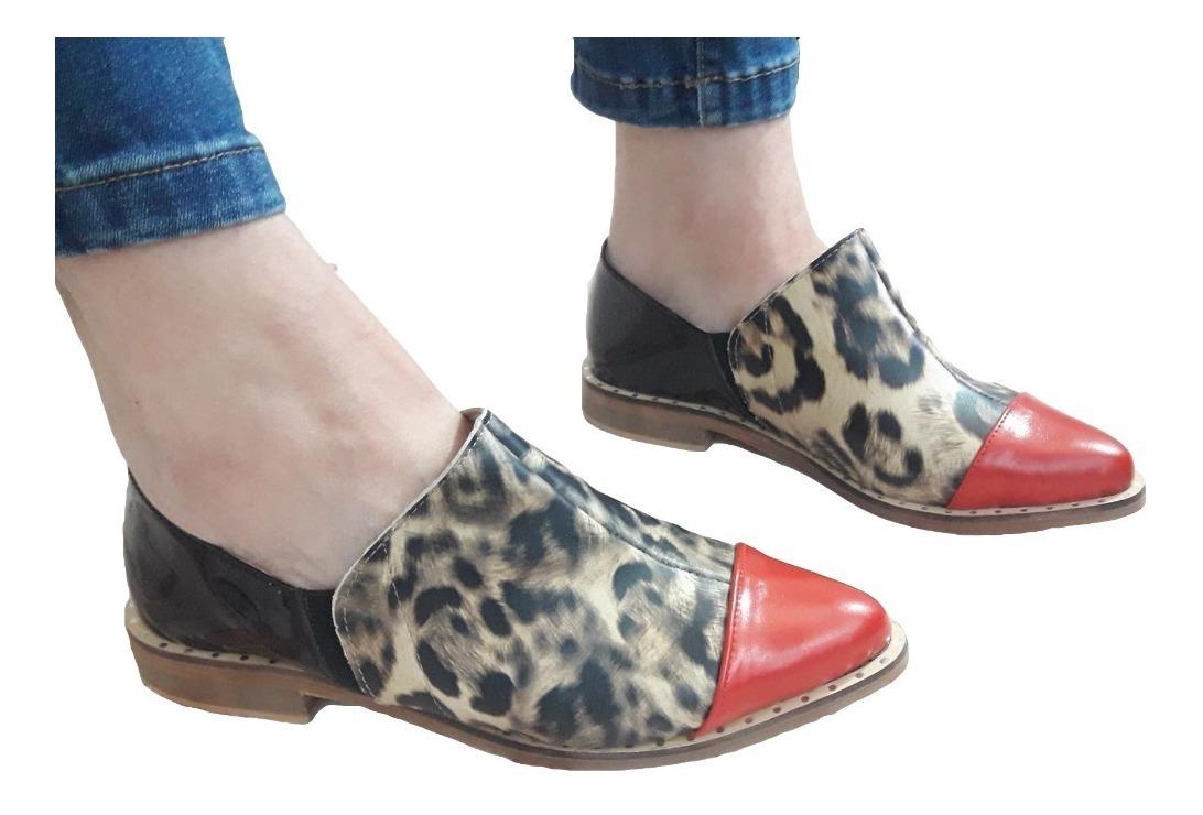 Zapato Ingles Prusiano Mocasin 41 35 Vacuno Mujer Cuero Al OkXuZiPT