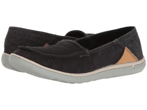 zapato mujer merrell duskair moc negro planos tela