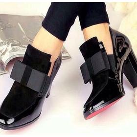 Zapato Mujer Moño Charol 7/2  Sandra Cano Shoes