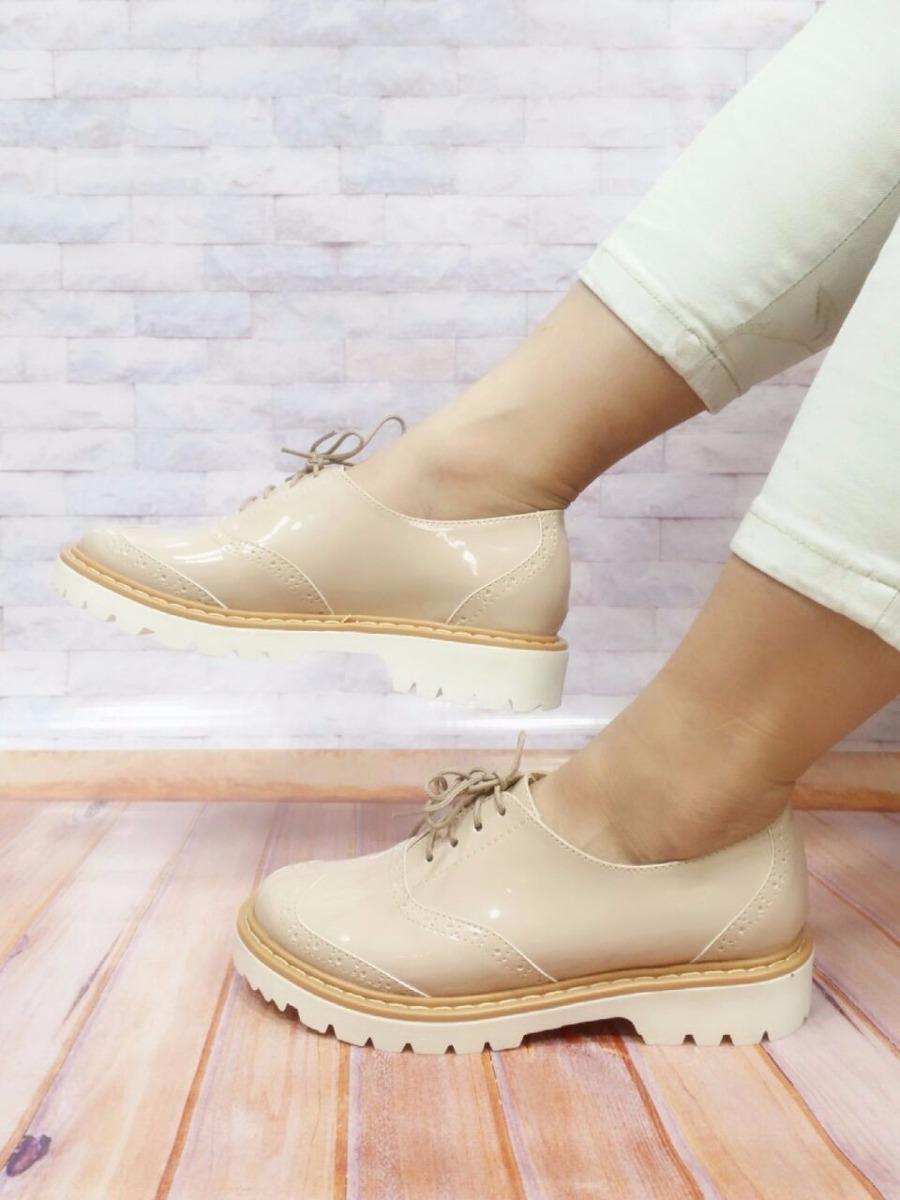 d722dd99da936 zapato mujer oxford beige charol calzado colombiano de moda. Cargando zoom.