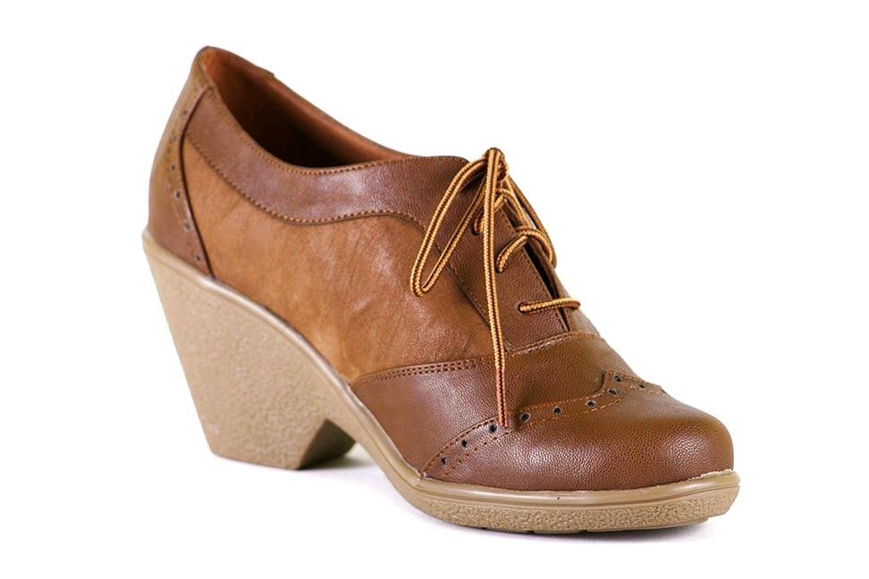 Zapato-mujer-oxford-camel-taco-cuña-talla 39-40-chorrillos - S  59 ... e6c3a3f3ca8f