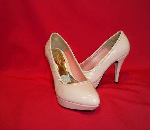 zapato mujer plataforma 10  melon brillo talla 38