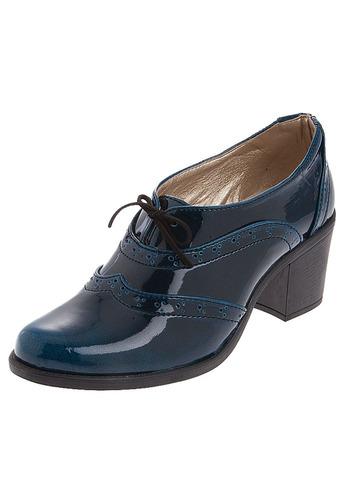 zapato mujer tellenzi 1002 tacón charol azul