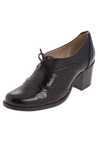zapato mujer tellenzi 1002 tacón charol*grabado negro
