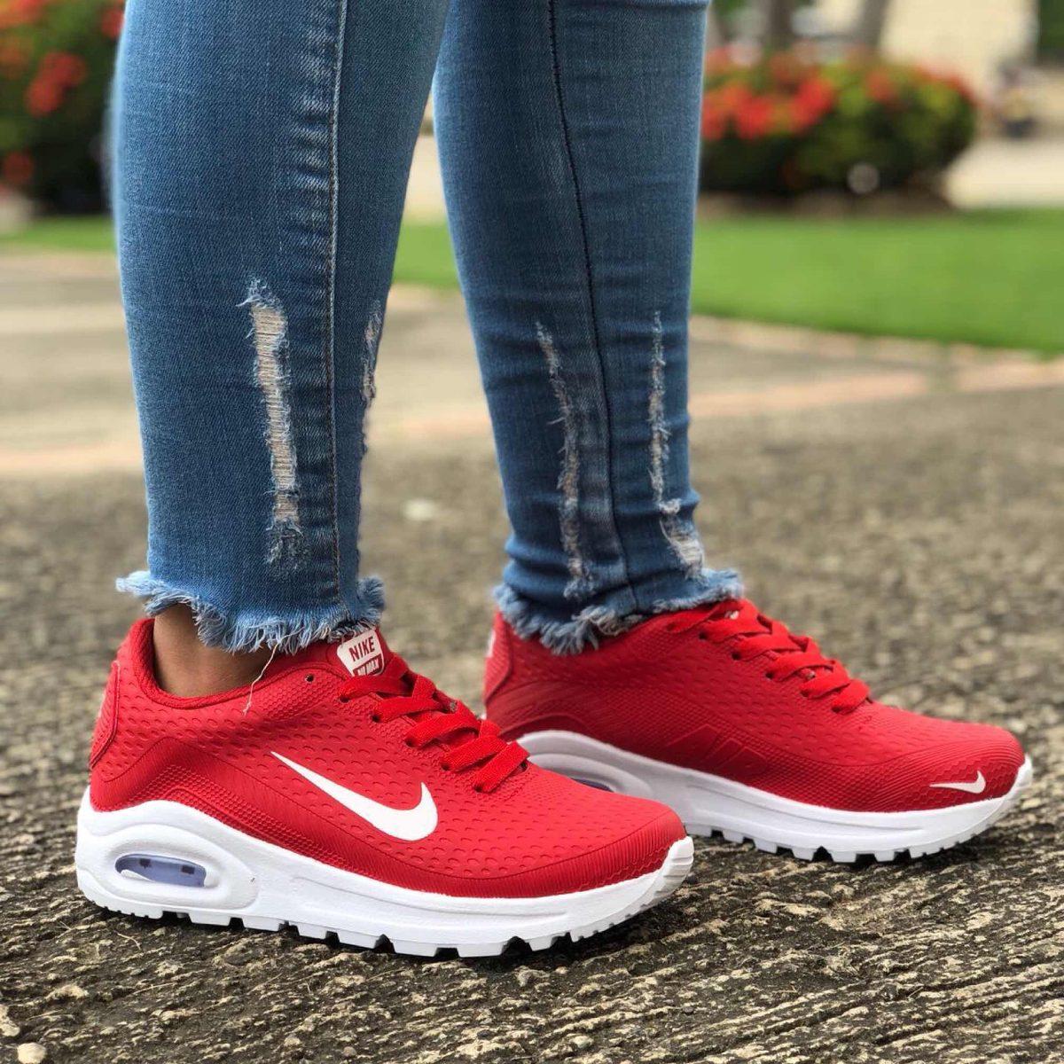 Deportivo Zapato Rojo Tenis Nike Mujer Dama oBdCex