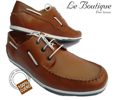 zapato náutico 100% cuero hombre footnotes815 suela hot sale