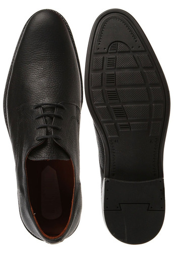 zapato negro de hombre / 100% cuero / dorking