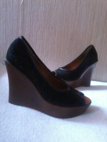 zapato negro peep toe numero 37  nuevo