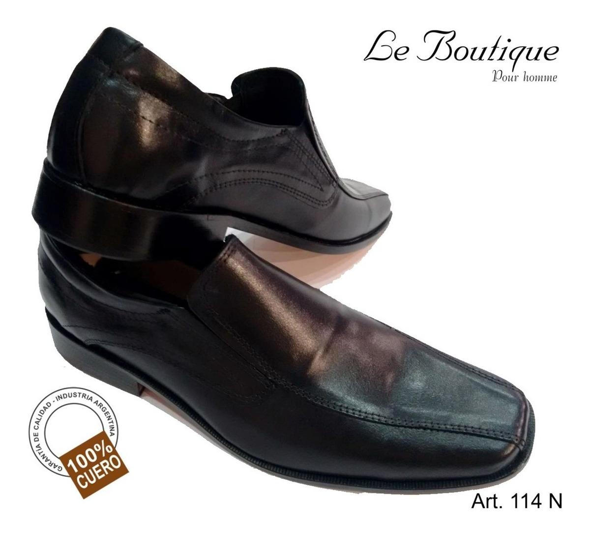 Zapato Negro Pta Cuadrada Base Suela Foot Notes 114 Hot Sale