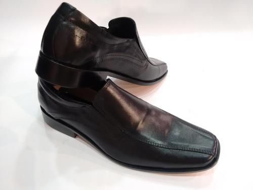 zapato negro punta cuadrada c/elas base suela foot notes 114