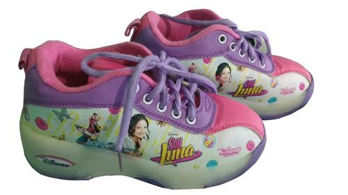 zapato niña tenis patin soy luna tenis patines rueda rosado