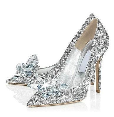 zapato novia brillante plateado taco 10cm (eco) - $ 50.000 en