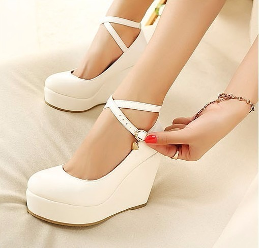 zapato novia plataforma color blanco nro.38 (eco) - $ 50.000 en
