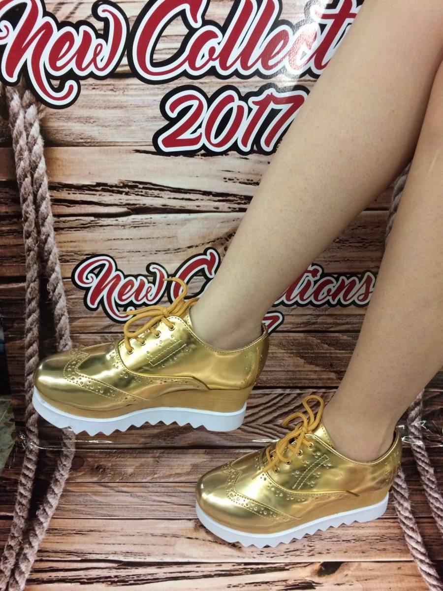 Oxford Mujer Juveniles63 Dama 000 De Dorado Zapato Moda En Para edBxrCWQoE