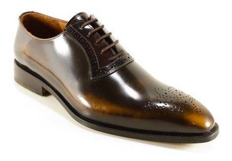 zapato oxford hombre cuero vacuno diseño gino by ghilardi.