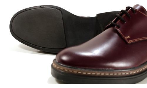 zapato oxford mujer en cuero bord diseño alessia by ghilardi
