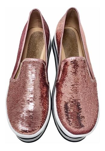 zapato para dama estilo flats con plataforma original