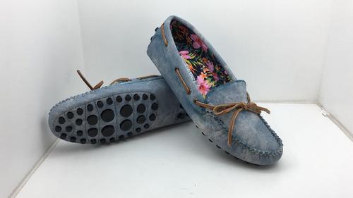 zapato para dama tipo guante (mocasín)