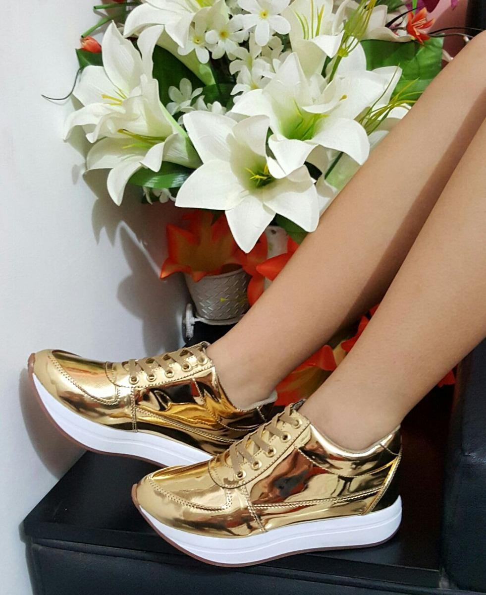 1ca3ab34 Zapato Para Mujer Color Dorado Deportivo Oro Dama Moda - $ 65.000 en ...