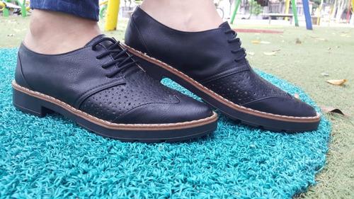 zapato para mujer color negro oxfords-envio gratis