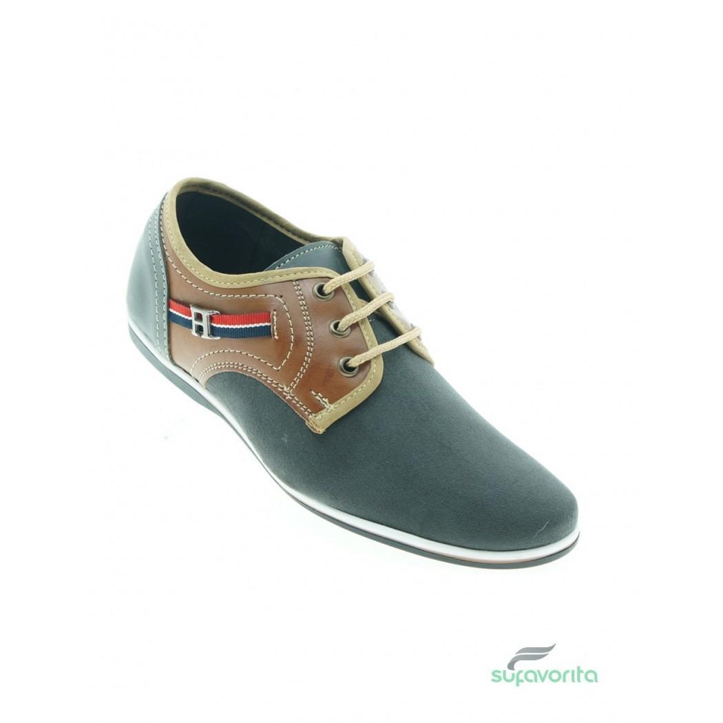 Zapatos grises Albert para hombre QyLaTrKoH