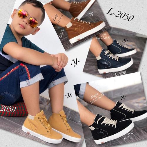 zapato para niño corte alto casual colombiano