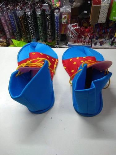 zapato payaso disfraz clown cotillon